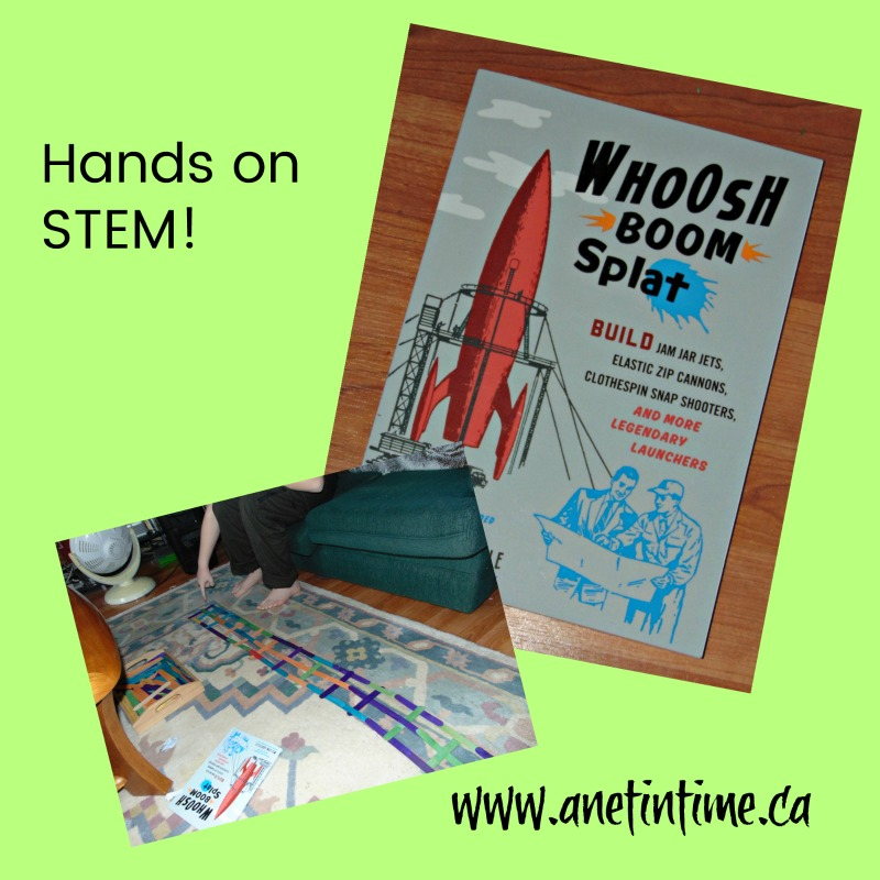 whoosh boom splat, an excellent hands-on STEM experiments book