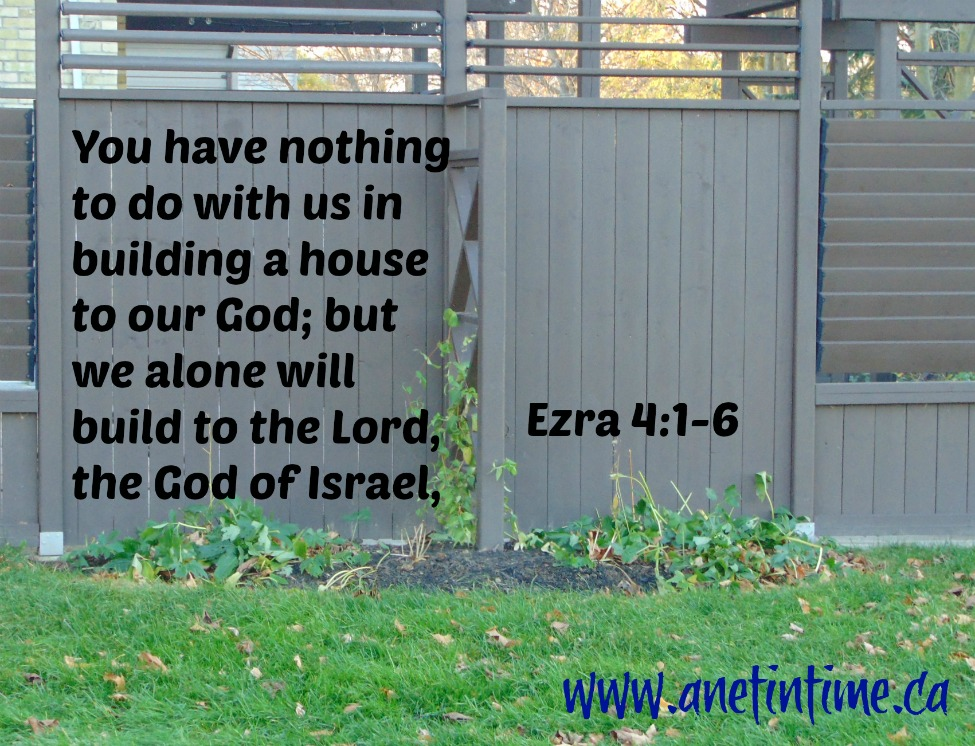 Devotional from Ezra 4:1-6 about the opposition the Israelites faced building the temple.