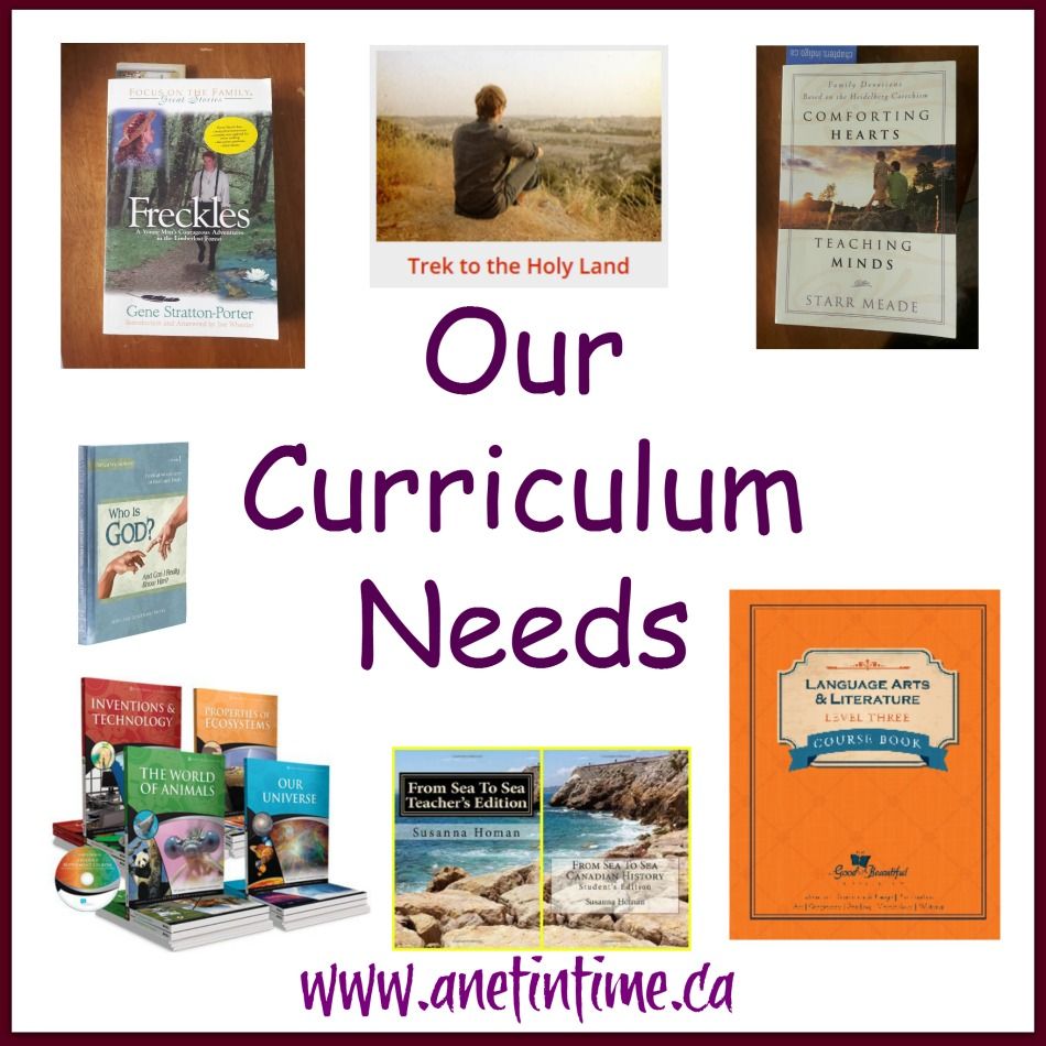 Our Curriculum needs, not just what we are using from grade seven, but also the why of what we are using.