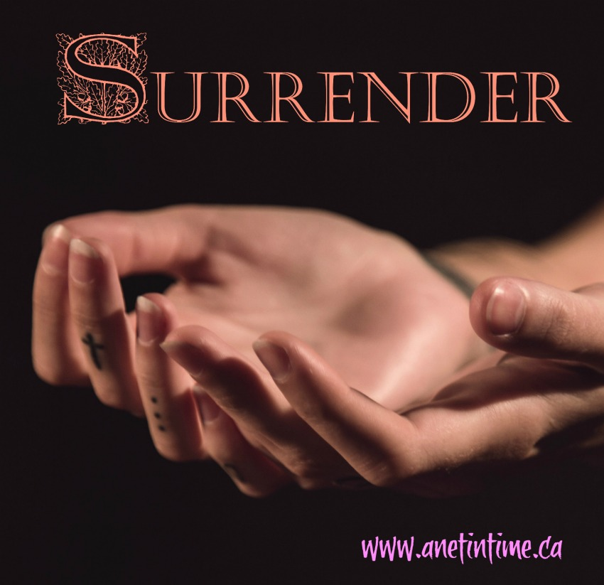 open hands, showing surrender, a poem .