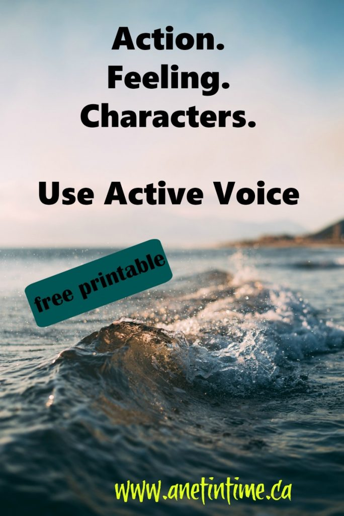 improve your writing, use active voice.