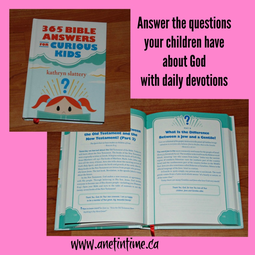 my review of 365 bible answers for curious children.  A way to use discernment as you teach your children about God.
