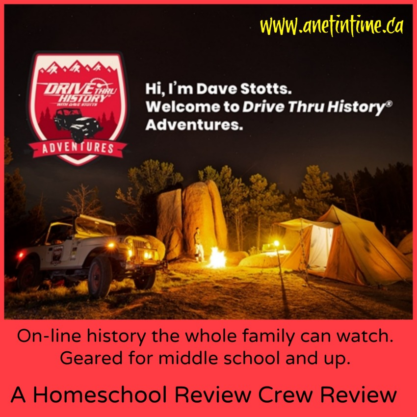 Field trips, videos, discussion questions and more. My review of Drive thru History Adventures.