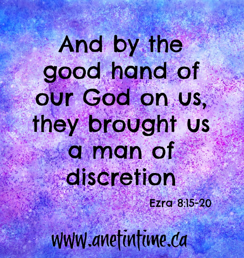 See God in action in Ezra 8:15-20