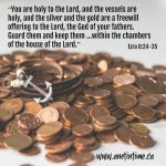 Levites Guard the Offerings