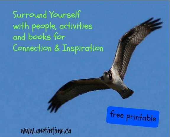 Surround yourself for connection and inspiration, the things you love in people, activities and books.