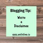 Write a Disclaimer