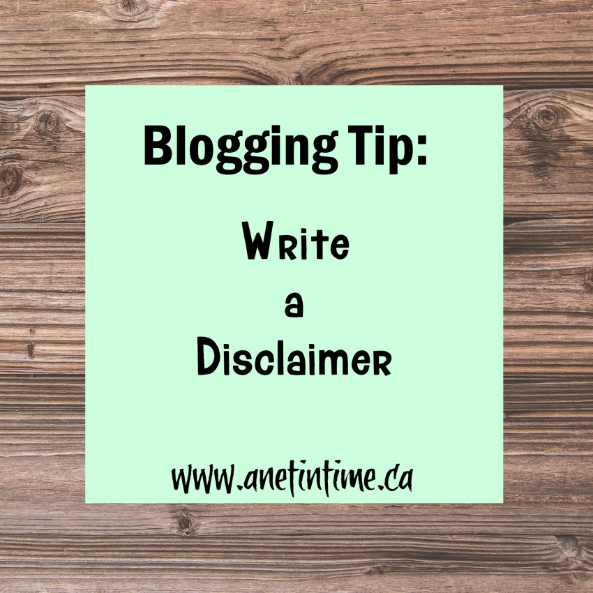 How to write a disclaimer for your blog