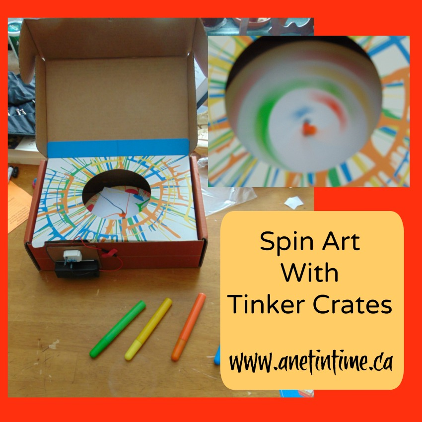 Spin Art with Tinker Crates