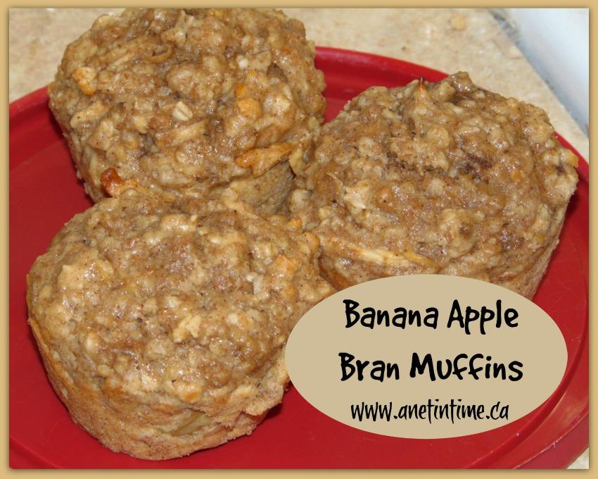 Recipe to make banana apple bran muffins