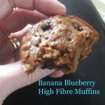 Recipe: Banana Blueberry High Fibre Muffins