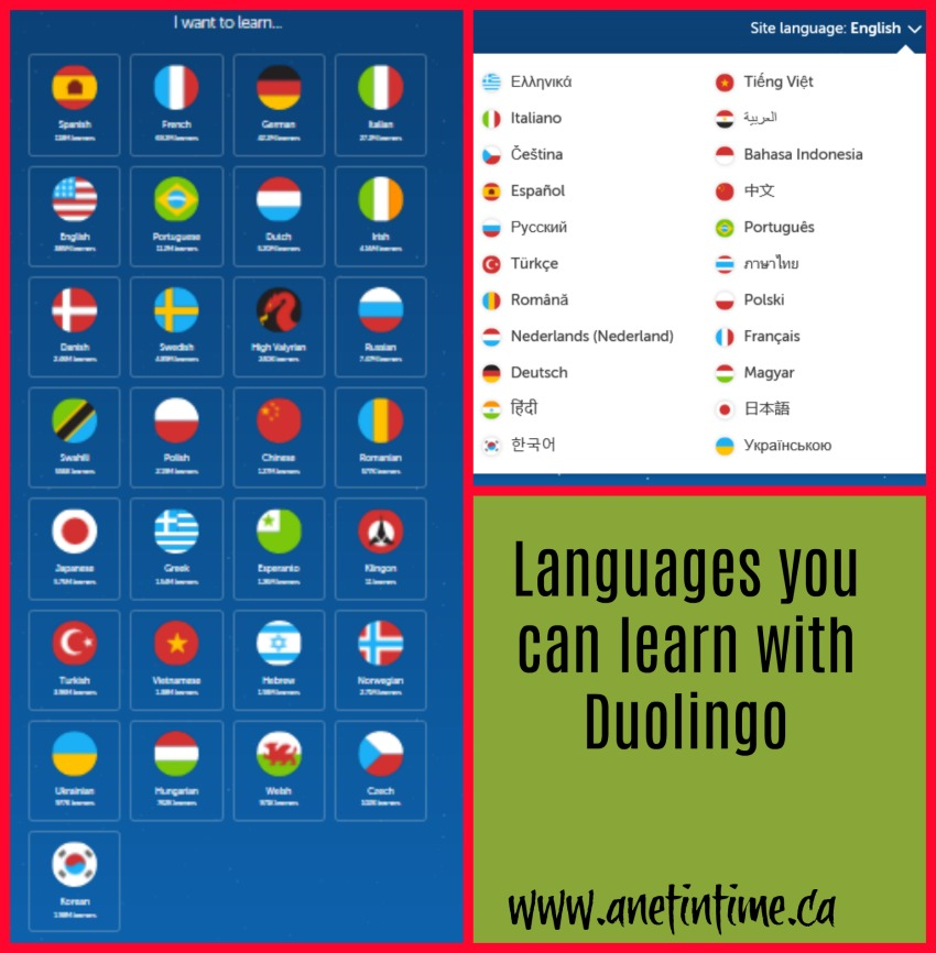 duolingo languages to learn