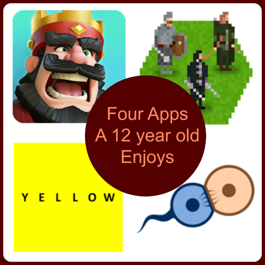 Four Apps a 12 year old enjoys
