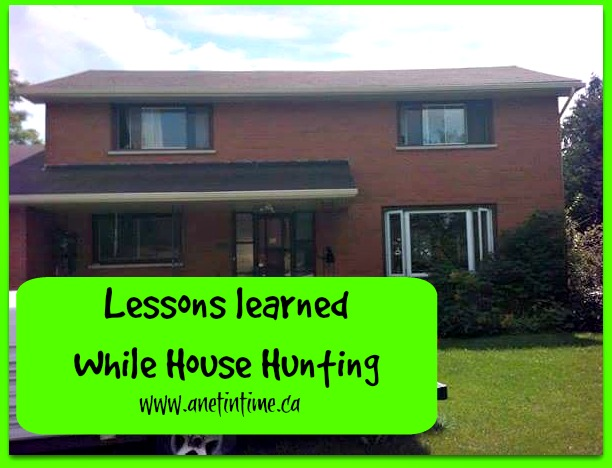 Lessons learned while House Hunting