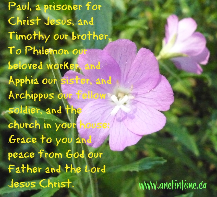 The greeting paul gives in Philemon 1