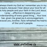 Paul's Prayer for Philemon