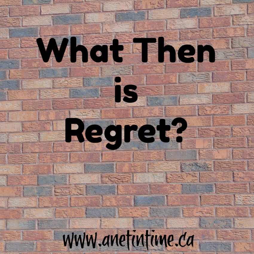 Regret, a freewrite word prompt