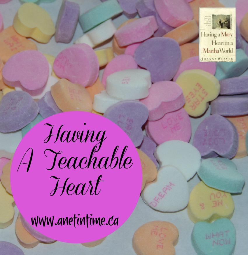 Having a teachable heart