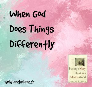 When God Does Things Differently