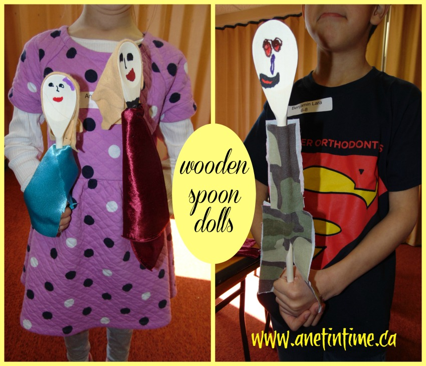 making the wooden spoon dolls