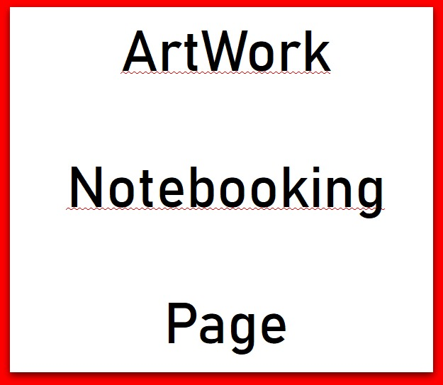 artwork notebooking page