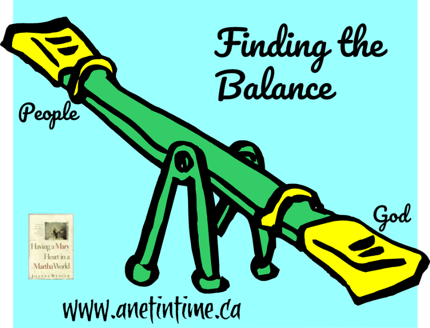finding the balance between God and people