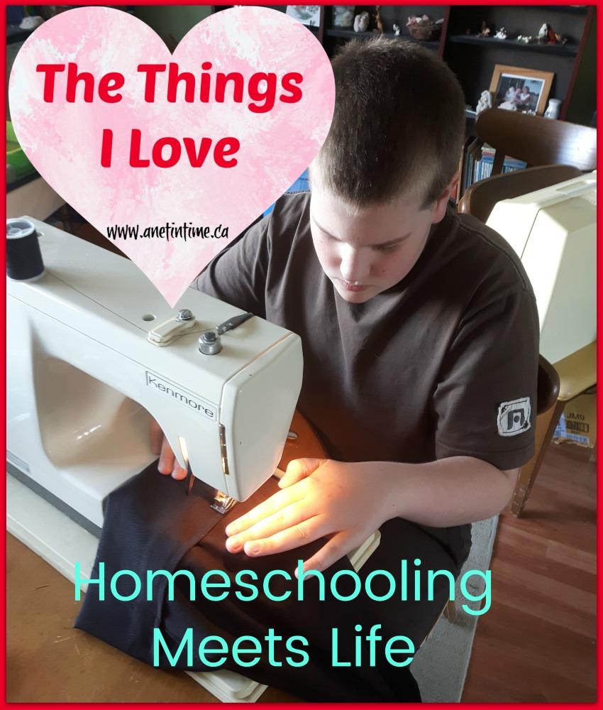 homeschooling meets life