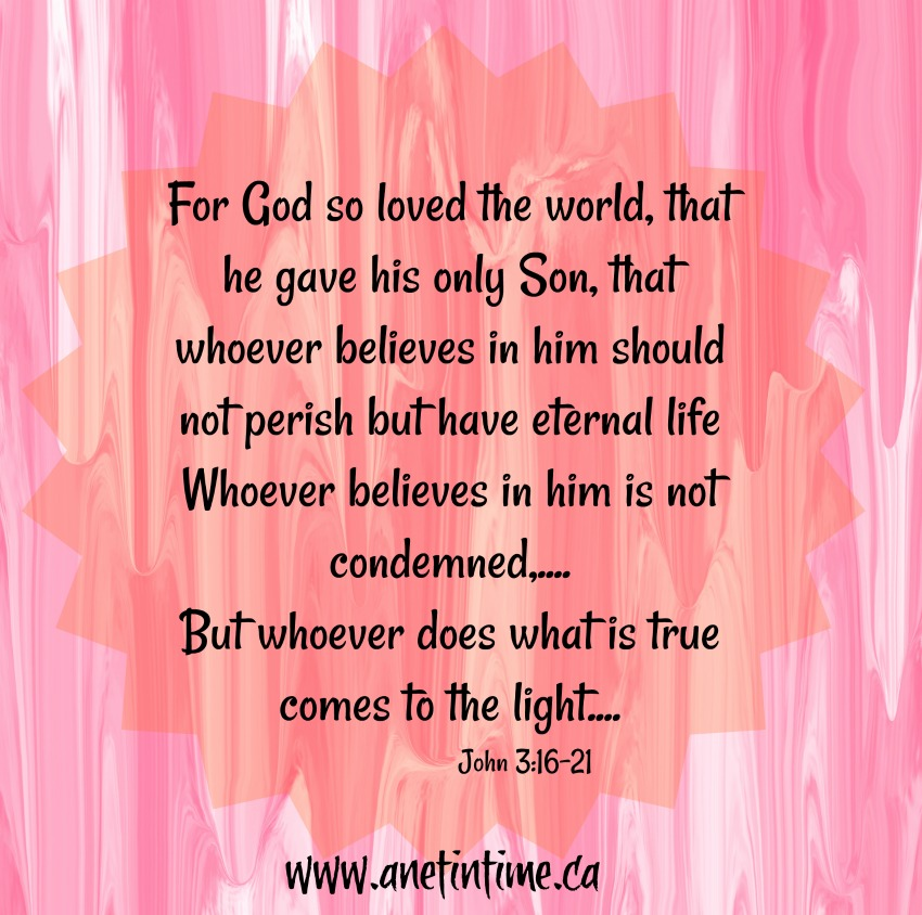 John 3:16-21  God's Love