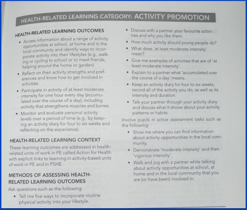 Promoting active lifestyles in schools.