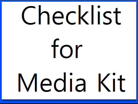 checklist for media kit