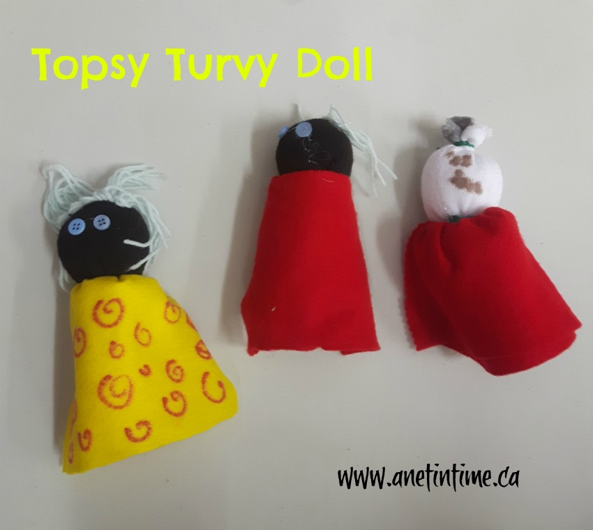 Topsy turvy dolls in doll making class
