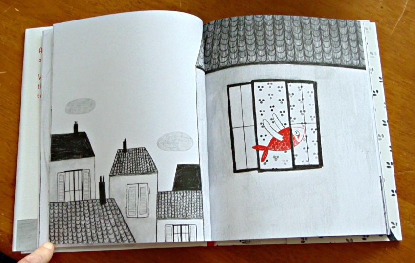 The Fish and the Cat, a wordless book that encourages creativity, sample page