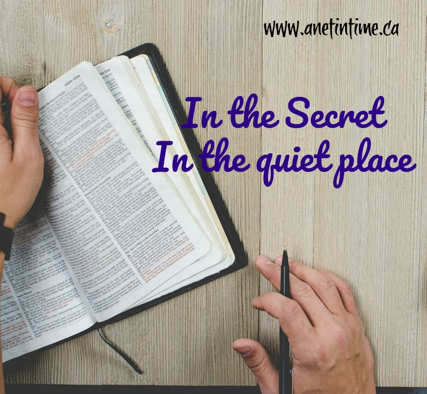 In the secret, the struggle to find time to spend time with God
