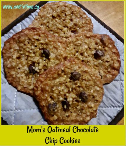 Mom's Oatmeal Chocolate chip cookies
