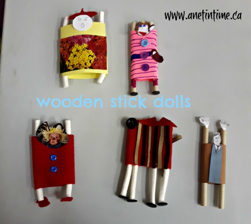 wooden stick dolls in doll making class