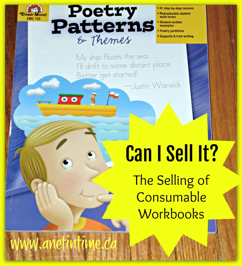 Can I sell it?  Things to consider when selling consumable workbooks