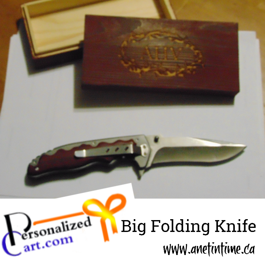 big folding knife, personalized art.com