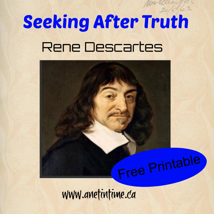 rene descartes, seeking after truth