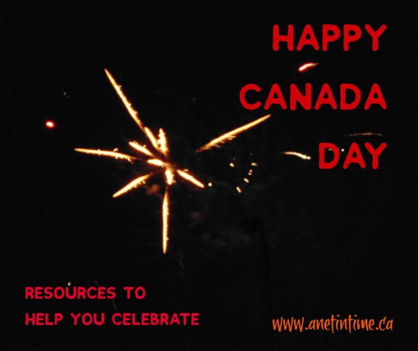 Fireworks for Canada, post with resources to help you celebrate
