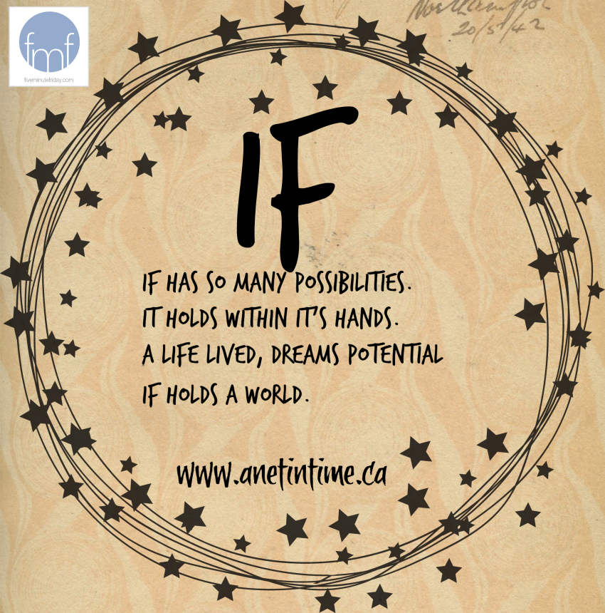 If, a graphic for a poem about the word if