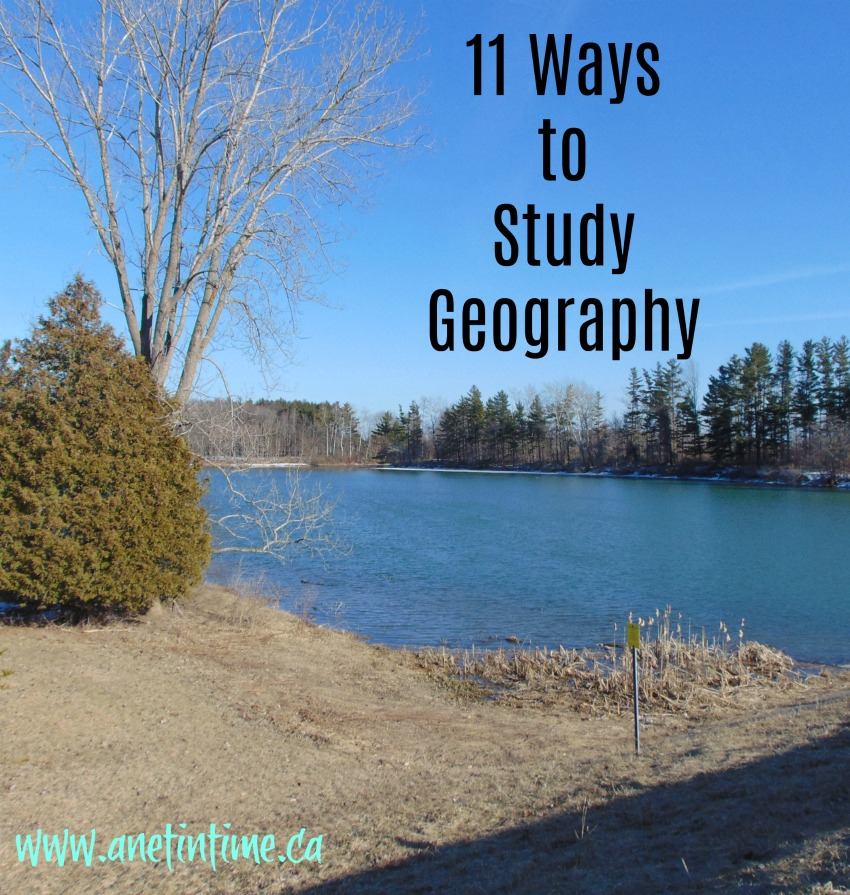 image of lake with trees, caption 11 ways to study geography