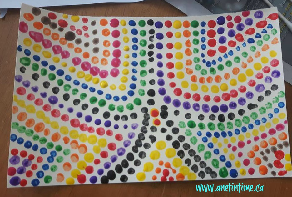 australian dot art project