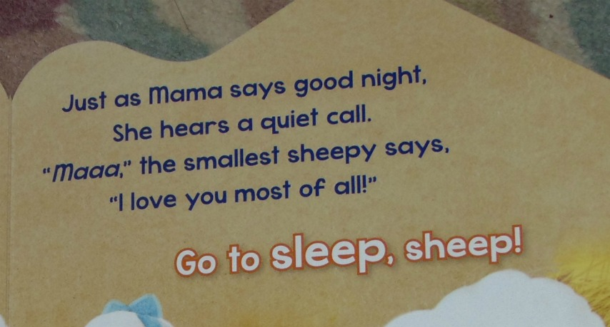 go to sleep sheep, verse