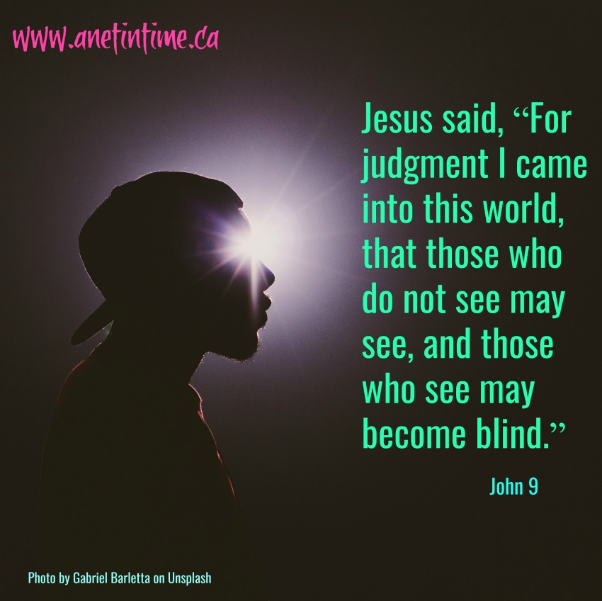 John 9 image blind person