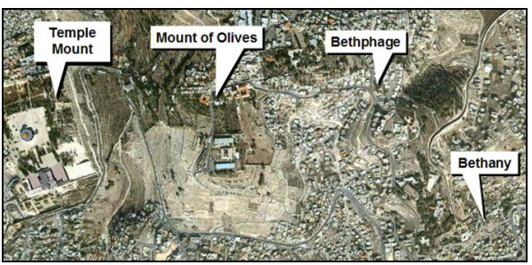 Map of mount of olives