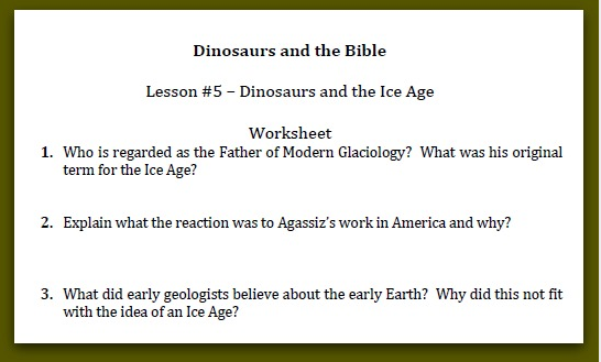 Dinosaurs and the bible, northwest treasures