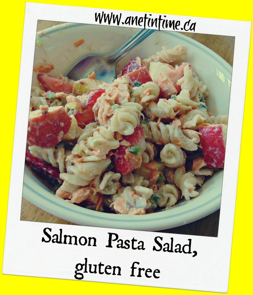 gluten free salmon pasta salad