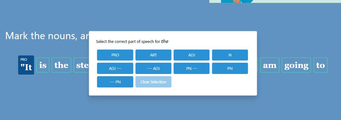 GrammarPlanet choice screen