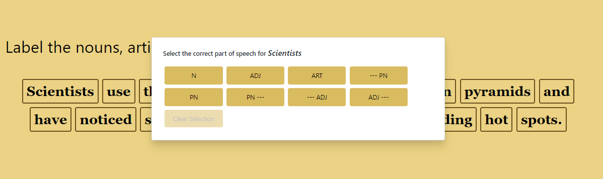 pick and choose GrammarPlanet