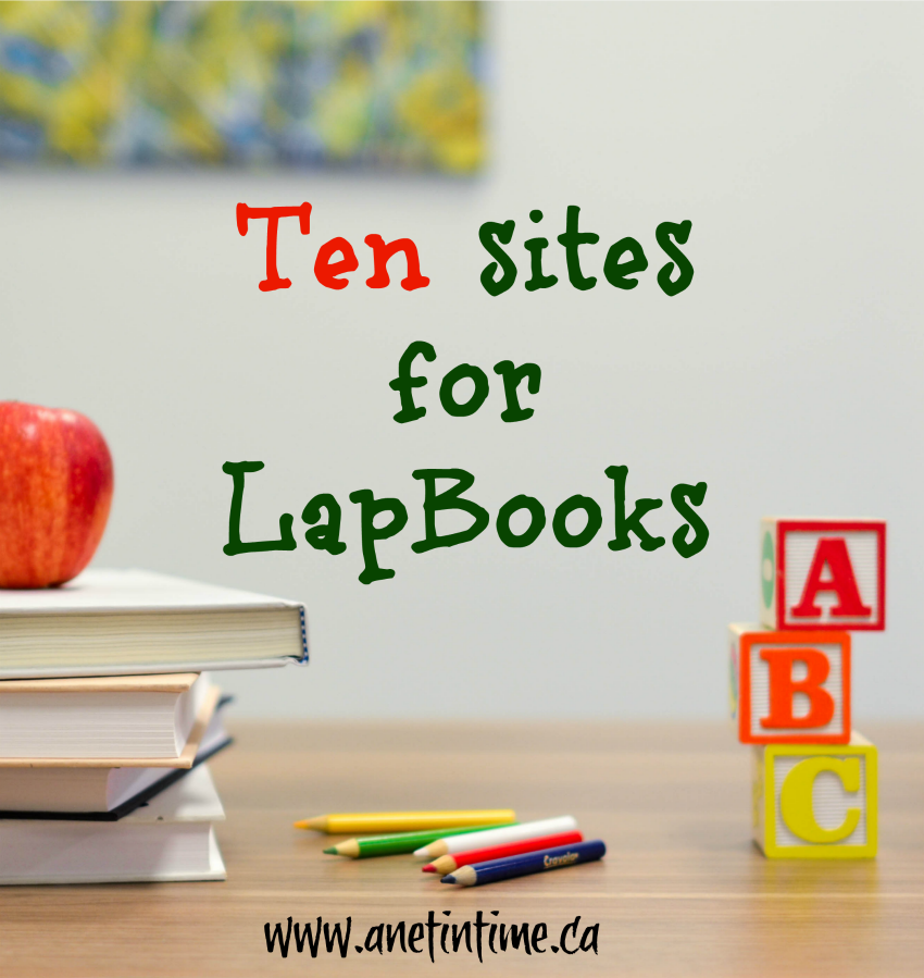 10 sites for lapbooks